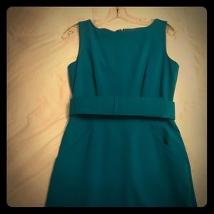Calvin Klein turquoise fitted sheath dress